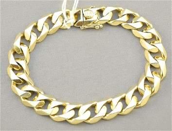 "14K Yellow Gold Gent's Bracelet, 8 1/2"" length (61"