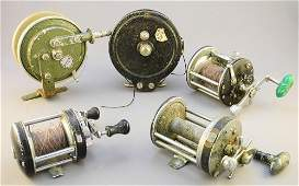 Lot of 8 Antique Fishing Reels: South Bend (2), Jecta
