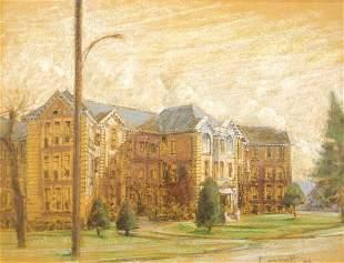 "Pastel on Paper Signed Plaskett'62, 18 3/4"" x 24 1/2"","