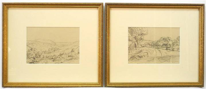 """2 Sketches Signed A.Y. Jackson, both 4 1/2"""" x 6 1/2"""","""