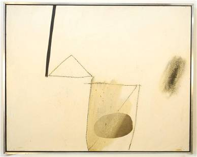 """Acrylic/ Paper/ Board signed (Toni) Onley '64, 20"""" x"""