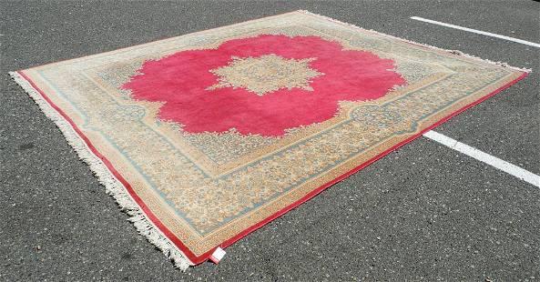 """Lavar Kirman Carpet approximately 9'4"""" x 10'6""""."""