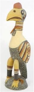 "Papua New Guinea Carved Cassowary By Markus Kuni, 27"""