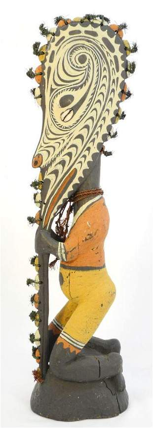 Papua New Guinea Carved Ancestral Figure By Joseph