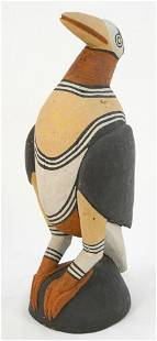 """Papua New Guinea Carved Bird From Yamuk Village,18 3/4"""""""