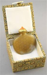 """Chinese Agate """"Shou"""" Snuff Bottle, 2 7/8"""" high, no"""