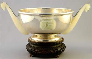 Yamanaka Sterling Silver Bowl, Signed, Mounted with