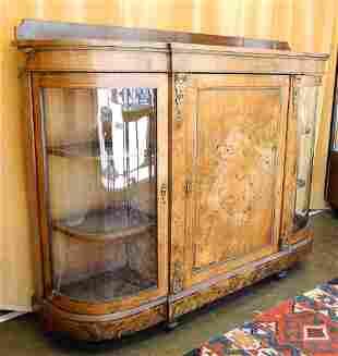 """J.R. Teale Victorian Inlaid Walnut Credenza, 58"""" wide,"""
