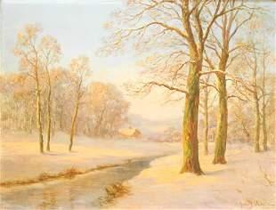 "Oil on Canvas Signed Jules Delaroche, 18"" x 23 1/2"","