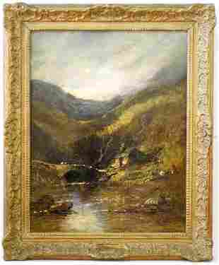 """Oil on Canvas Signed James Webb 1887 18 1/4"""" x 14 1/4"""","""