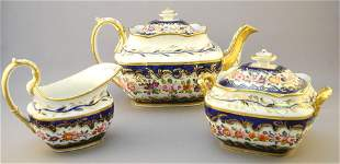 Coalport Regency Porcelain Hand Painted Rose Pattern