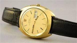 Gents Omega Megaquartz 32KHZ Wristwatch with Leather