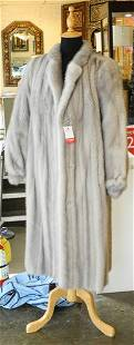 Scuby Furs Full Length Sapphire Mink Coat,