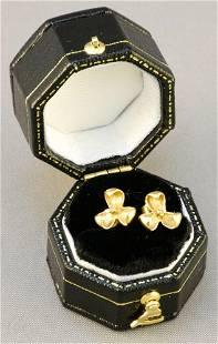 14K Diamond Stud Earrings.