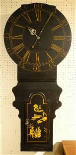 "Antique Mahogany Tavern Clock, 53 1/2"" high."