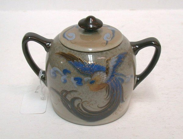 "589: Royal Doulton ""Titanian"" sugar bowl."
