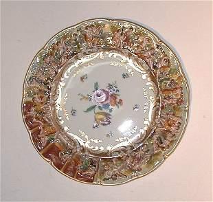 """Capo di Monti plate, approximately 11"""" in"""