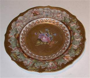 "Capo di Monti plate, approximately 9"" in h"