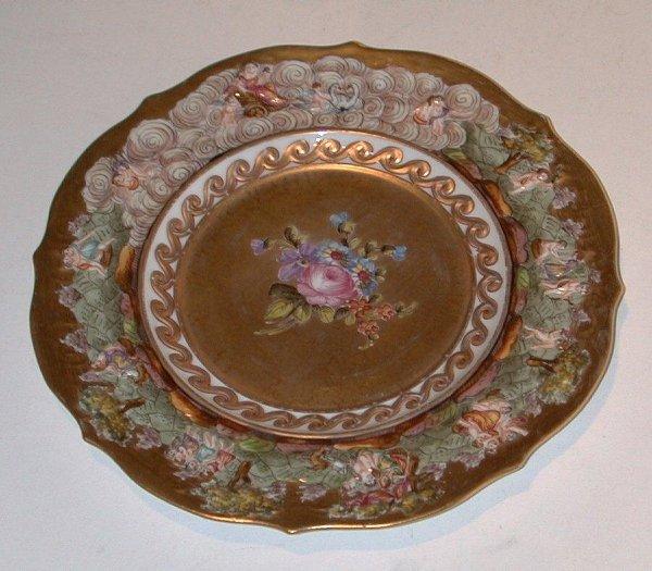 "4: Capo di Monti plate, approximately 9"" in h"
