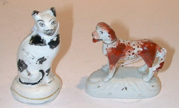 7: Staffordshire dog and cat.
