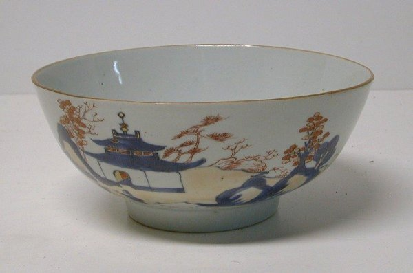 15: Oriental Imari type porcelain bowl, dia.