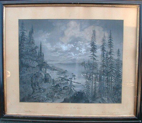 """18: Charcoal drawing signed Ella Poston, """"Moo"""
