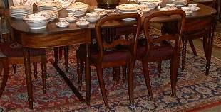"19th. century mahogany ""D"" end dining roo"