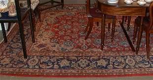 "Esfahan carpet, approx 13' x 9'9""."