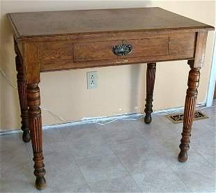 Victorian carved oak desk.