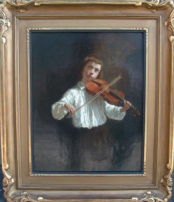 1001: Oil painting on canvas signed Edouard F