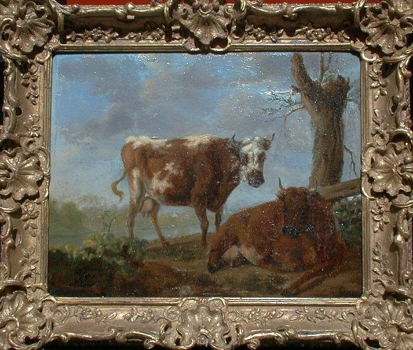 1005: Oil painting on panel in the style of V