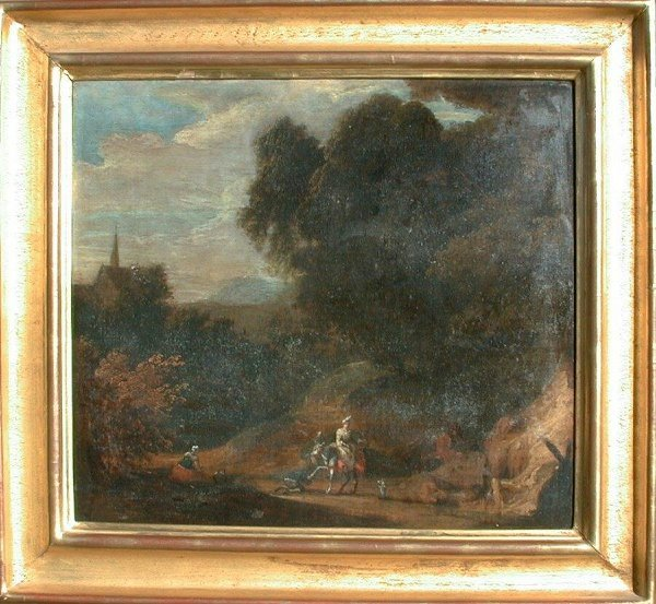 1007: 18th century oil painting on canvas, un