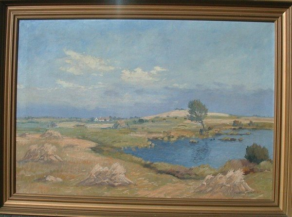 1008: Oil painting on canvas signed John Jaco