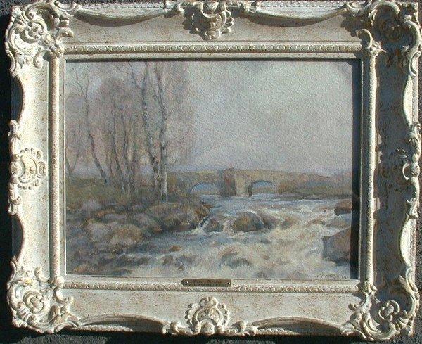 1010: Watercolour signed W.E. Atkinson, 11 1/