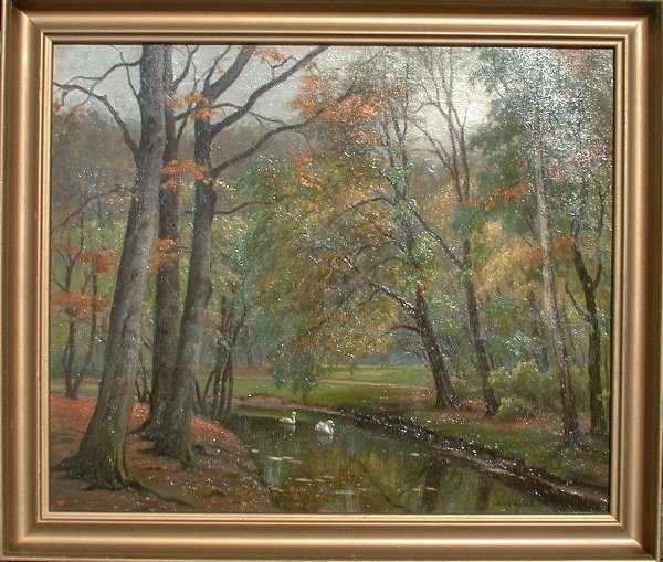 1011: Oil painting on canvas signed Hans Hils