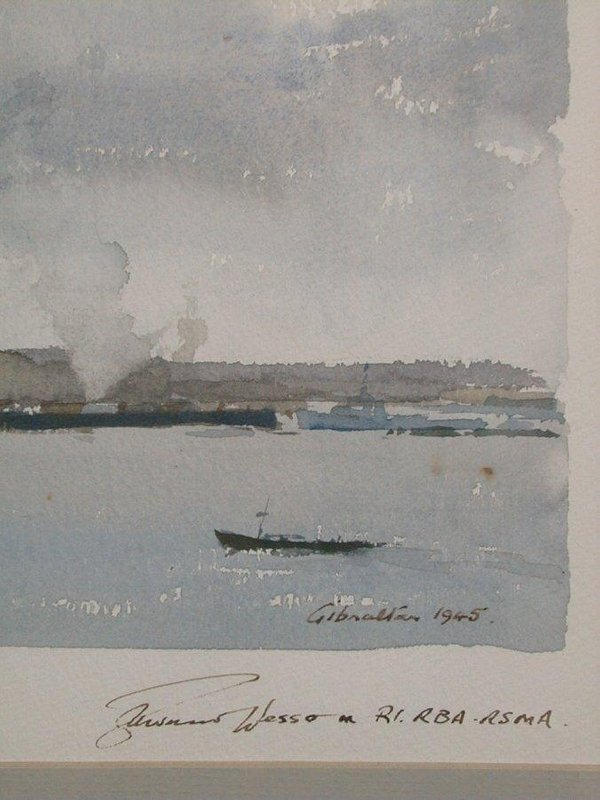 "1015: Watercolour signed Edward Wesson, 10""x1 - 3"
