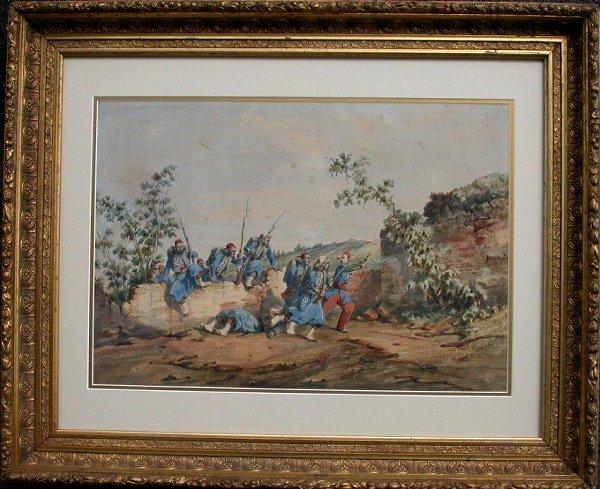 1016: Watercolour signed Orlando Norie, 12 1/