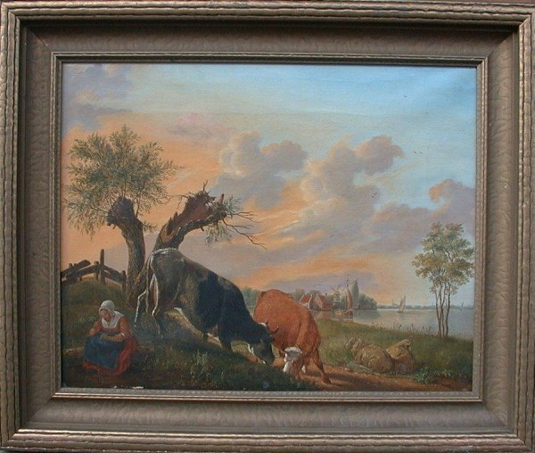 """1019: Oil painting on canvas unsigned, 16"""" x"""