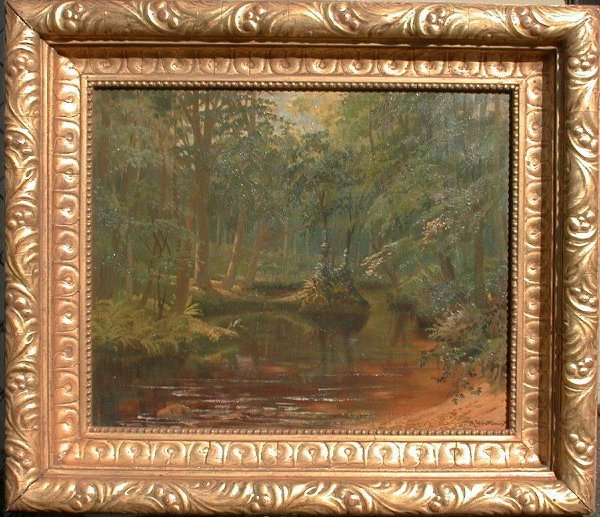 """1020: Oil painting signed J.L. Northeast, 18"""""""