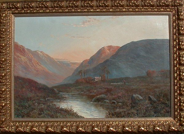 """1021: Oil painting signed F.E. Jamieson, 16"""""""