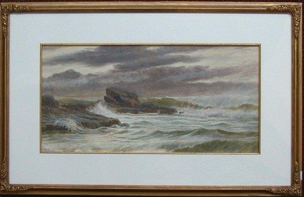 1023: Watercolour signed Vicat Cole,1876, 9 i