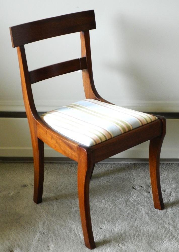 Sabre leg Mahogany Side Chair.