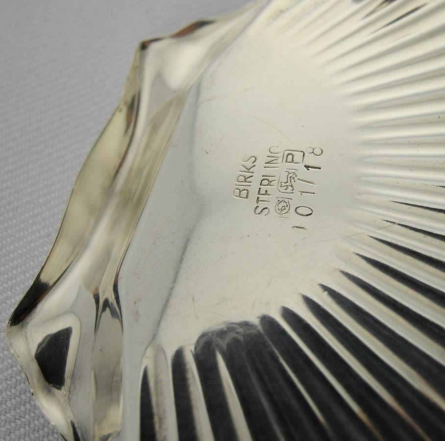 Sterling Scallop Shell, plated bottle coaster and water - 2