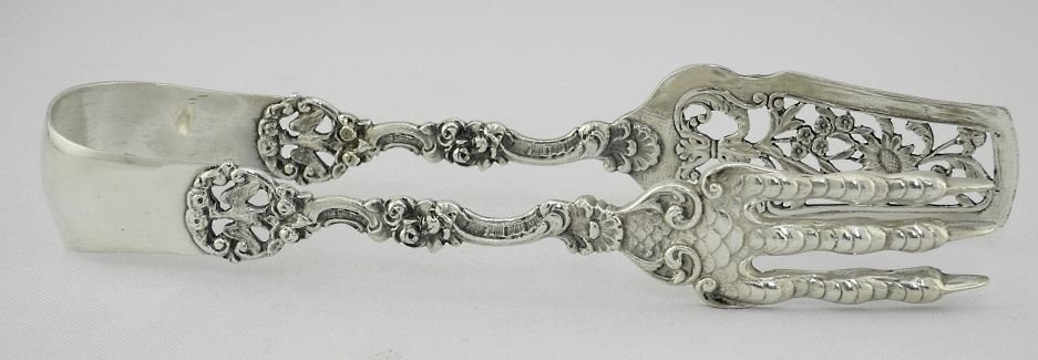 Pair of Sterling Silver Asparagus Tongs. - 2