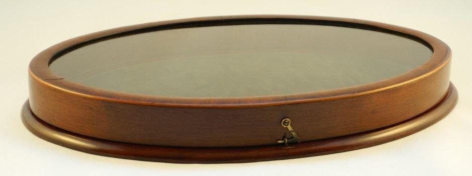 Oval Mahogany Display Case. - 2