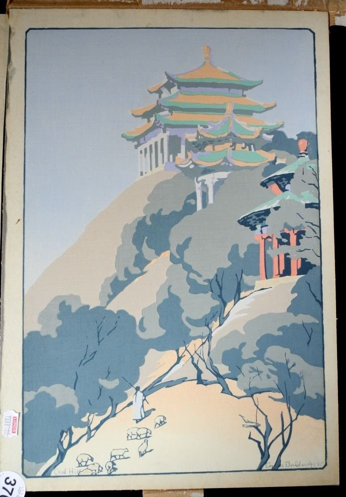 Two Pairs of Japanese Woodblock Prints. - 2