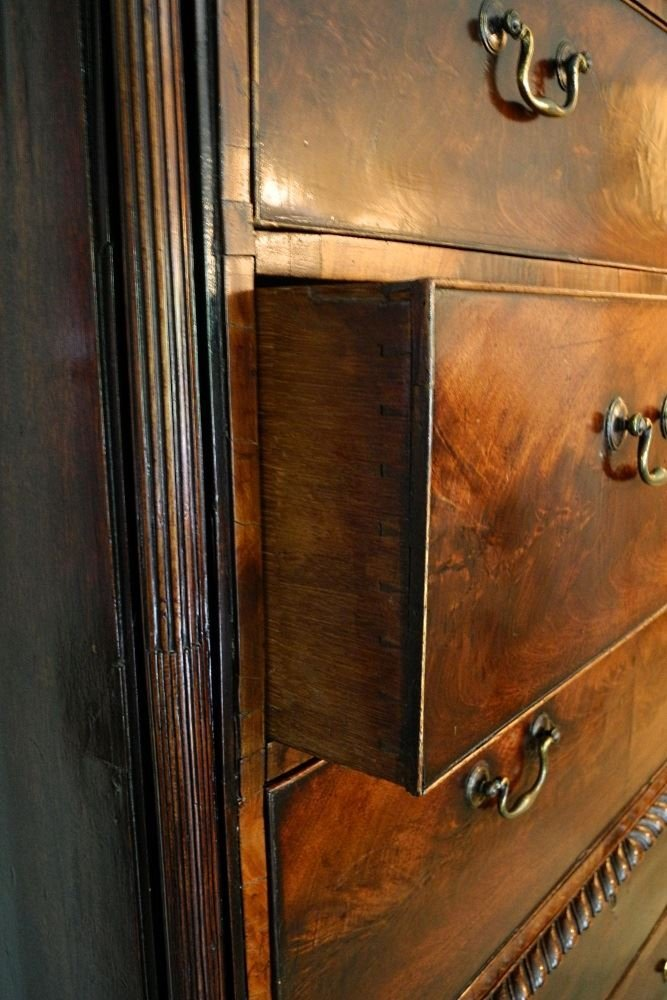Large Mahogany Chest on Chest, on heavy claw and ball - 5