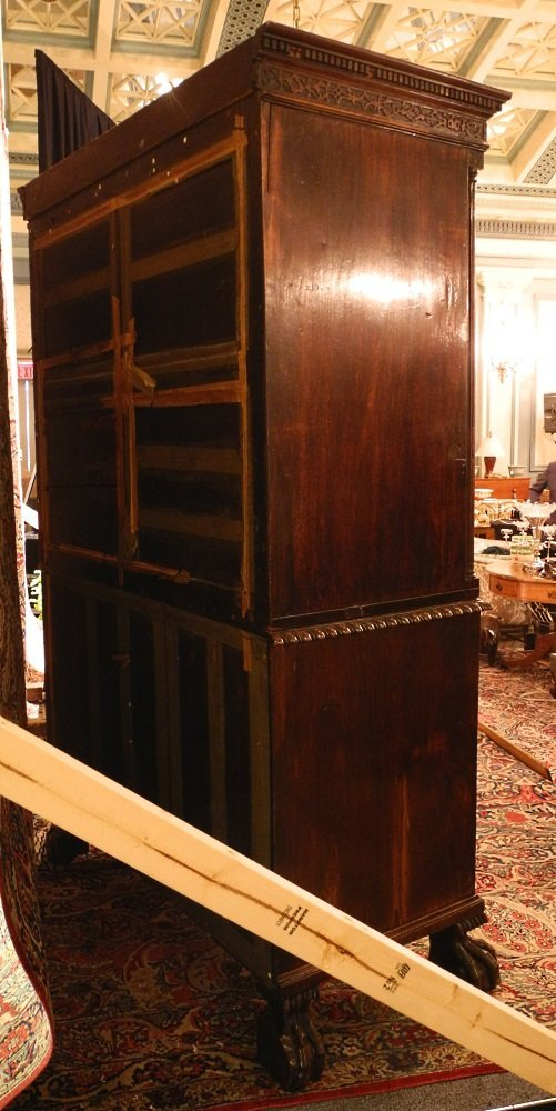 Large Mahogany Chest on Chest, on heavy claw and ball - 7