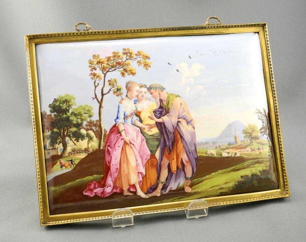 """Fine """"Battersea"""" enamel plaque La Belle Aventure, 5"""
