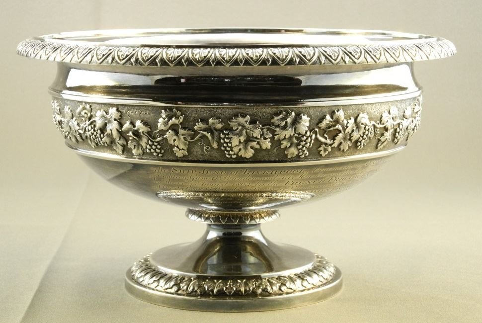 """Geo. 12"""" Punch Bowl, London 1800, John Emes, given to"""